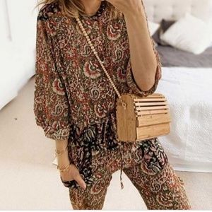 Zara Combined Printed Jumpsuit Paisley 5107/043